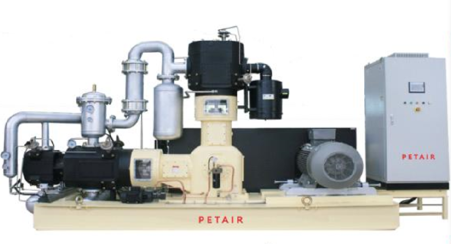 Oil free air compressors for PET blowing